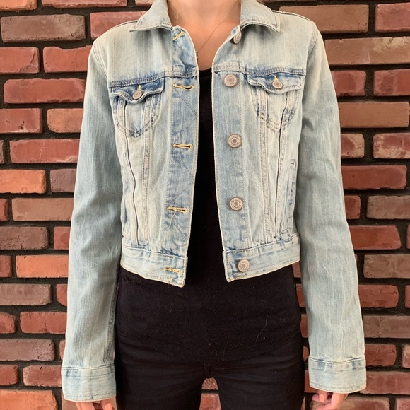 American Eagle Outfitters Jackets & Blazers - 💖Jean Jacket with Aztec Design
